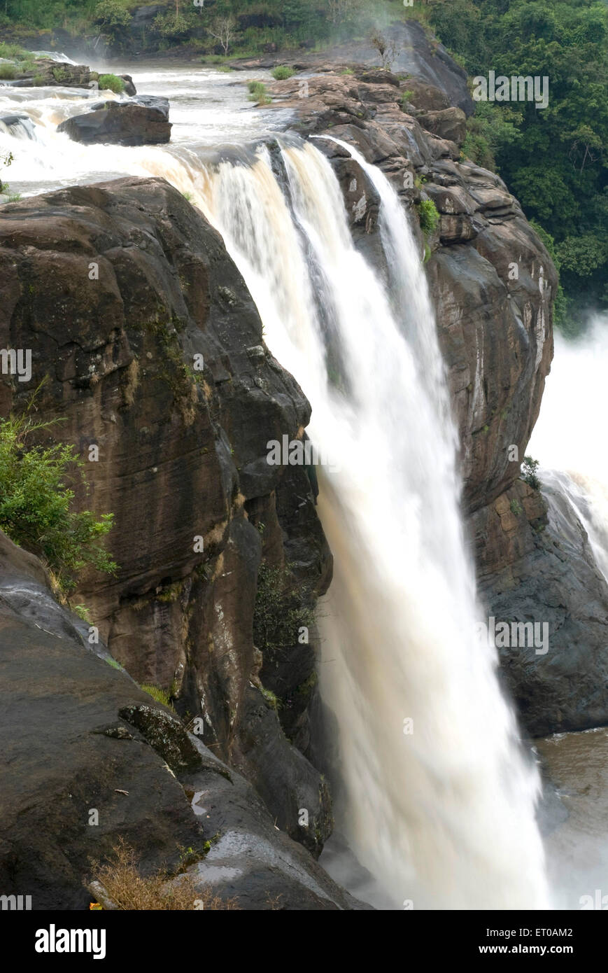 Athirappally waterfalls near Chalakkudy ; Kerala ; India - Stock Image