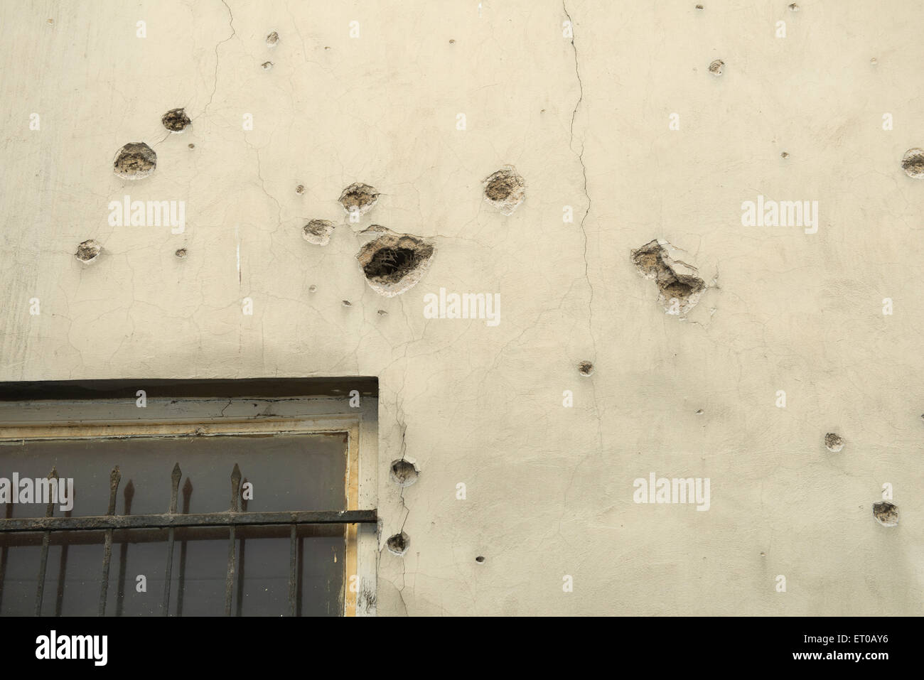 Signs of war in Sarajevo - Stock Image