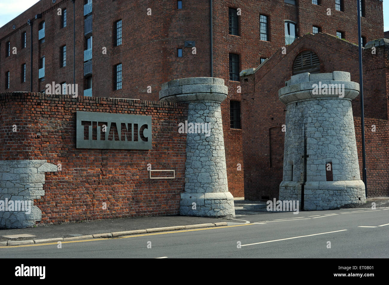 Titanic Hotel, Liverpool, England, UK. Part of the redevelopment of the historic Stanley Dock complex, this trendy, Stock Photo