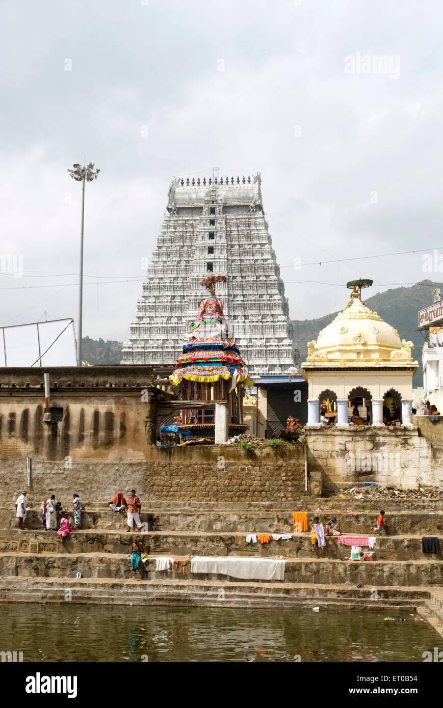 Arunachaleshwara temple Chola Period 9th 13th century in Thiruvannamalai ; Tamil Nadu ; India - Stock Image