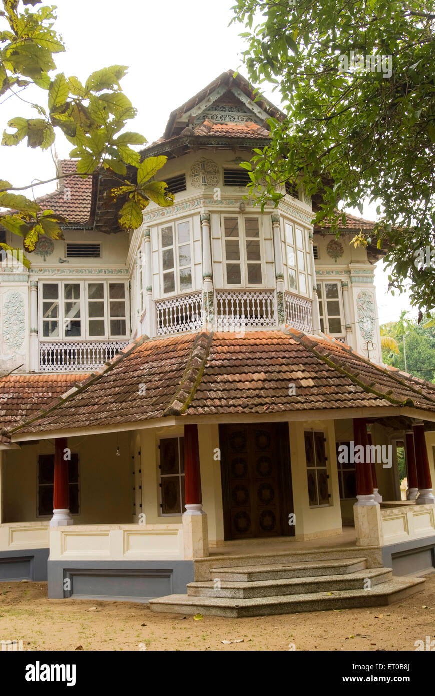 Hundred years old Syrian Christian house at Cherai ; Kerala ; India - Stock Image