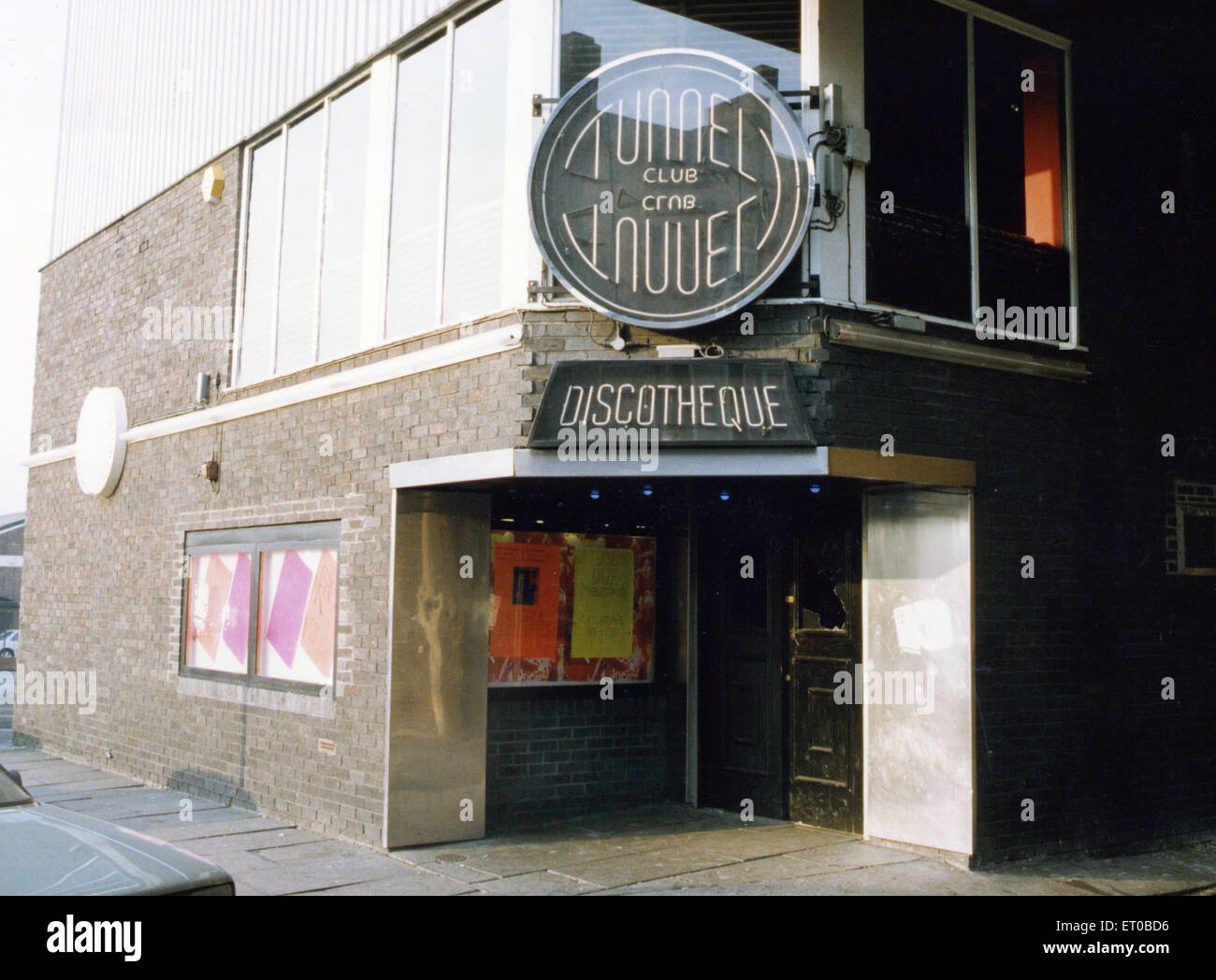 The Tunnel nightclub in South Shields, Tyne and Wear. 15th December 1991. - Stock Image