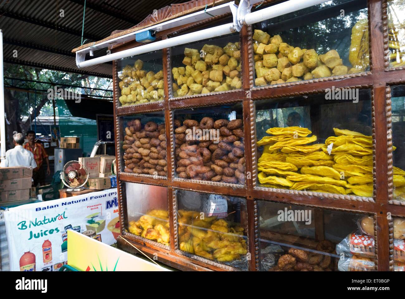 Chayakadai tea shop showcase ; Kerala ; India - Stock Image