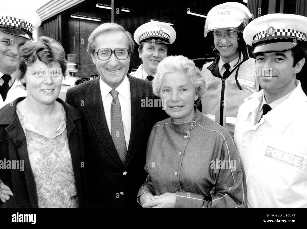 Shaw Taylor MBE, a British actor and television presenter. Best known for presenting Police 5, a long-running 5 - Stock Image