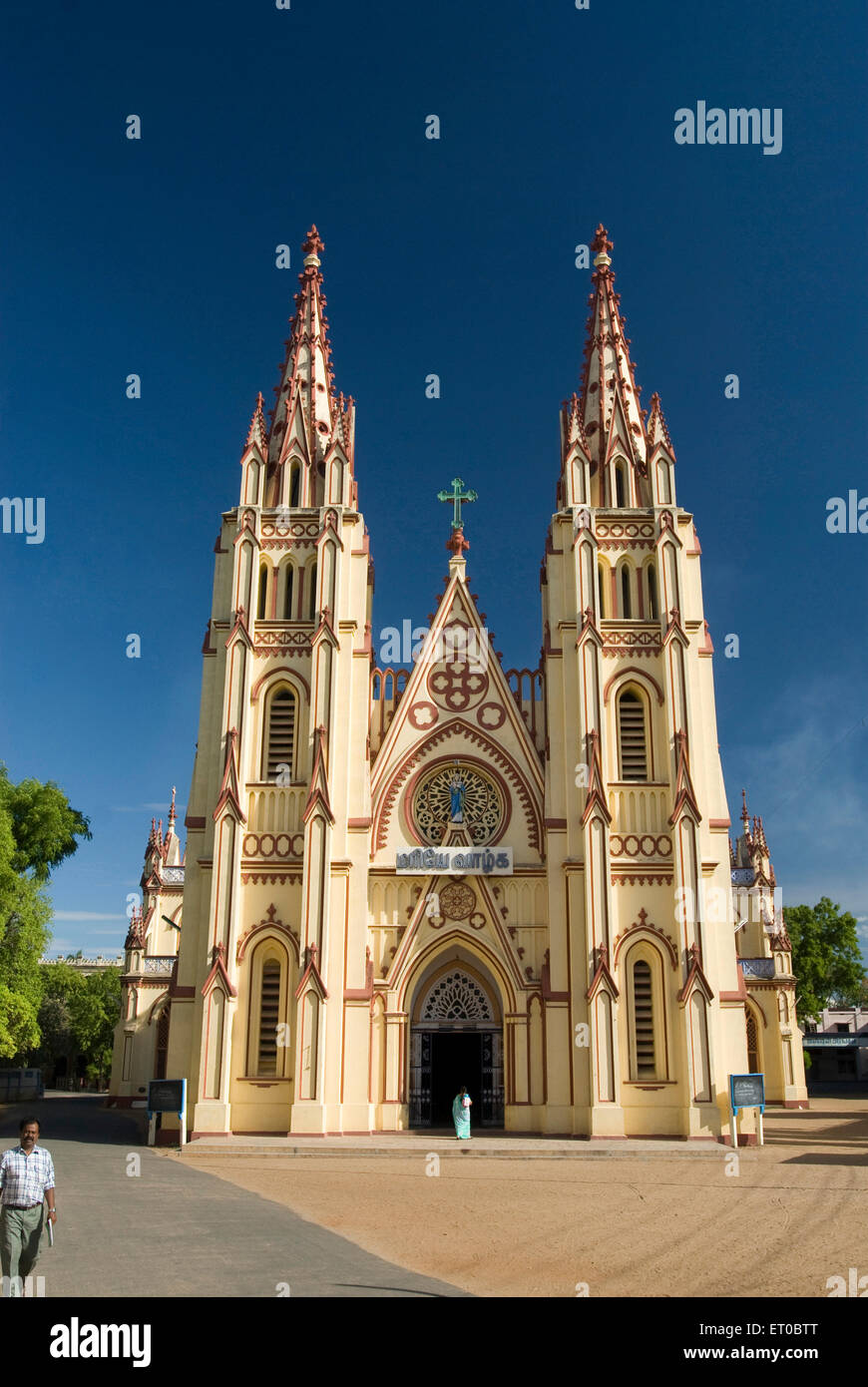 Saint Mary cathedral constructed in 1916 ; Madurai ; Tamil Nadu ; India Stock Photo