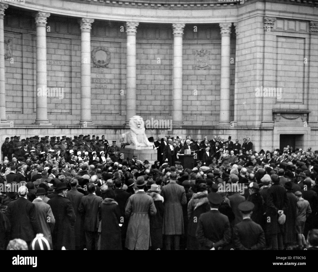 Two important ceremonies were carried out in Aberdeen , the first being the dedication of the city's handsome - Stock Image