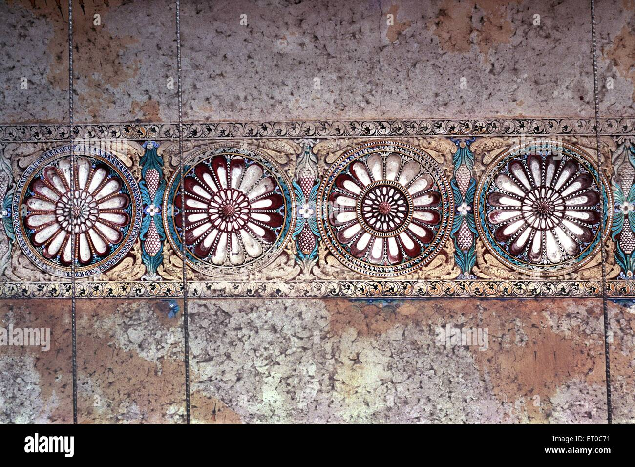 Murals in Thirumalai Nayak palace in 1636 ; Madurai ; Tamil Nadu ; India - Stock Image
