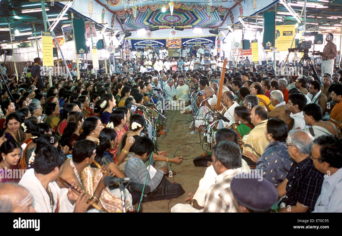 Sri Thyagaraja Aradhana festival at Thiruvaiyaru near Thanjavur ; Tamil Nadu ; India - Stock Image