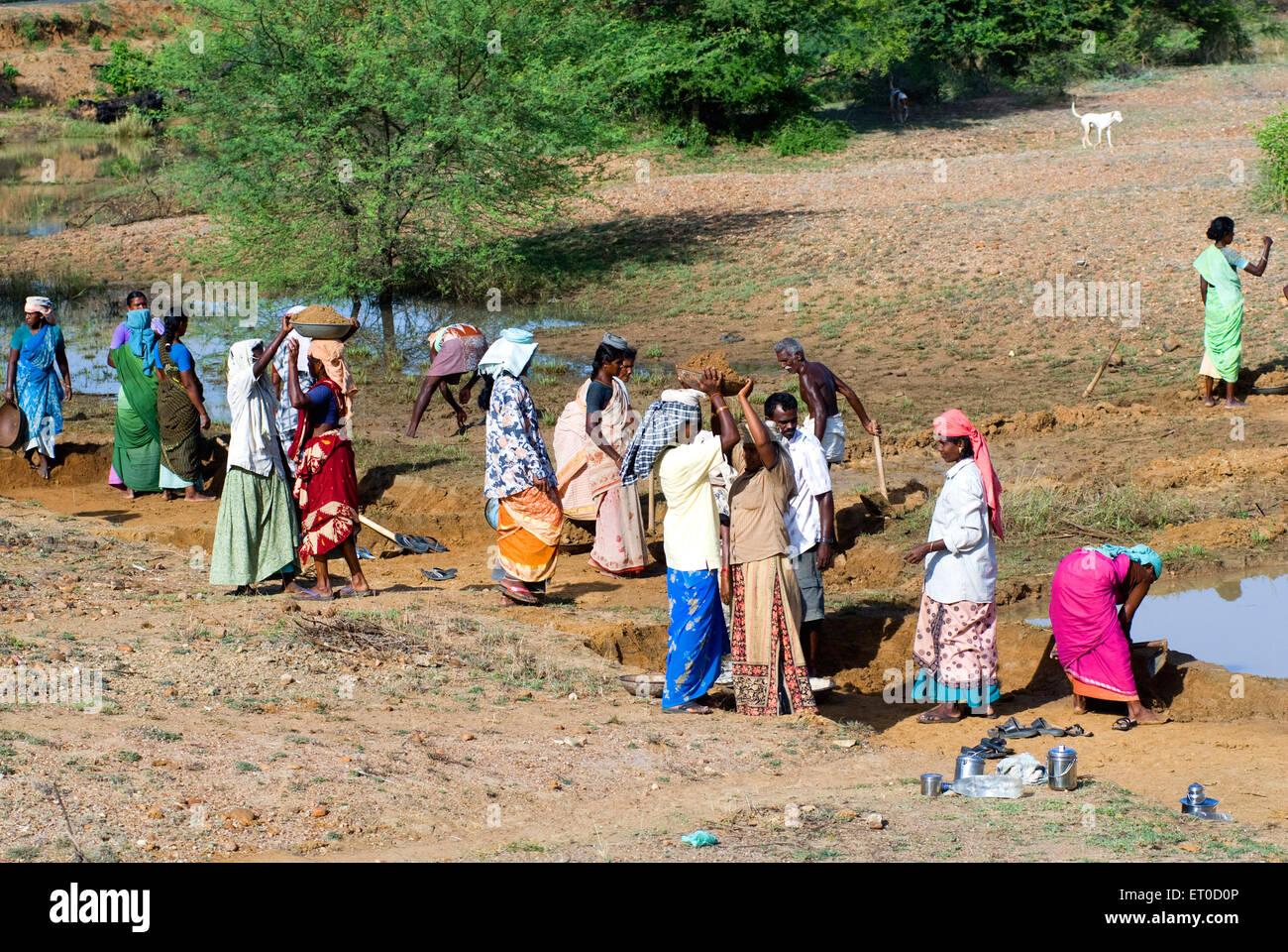 National rural employment guarantee scheme workers ; Tamil Nadu ; India - Stock Image