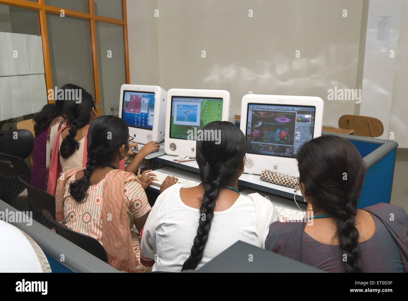 Computer lab in psg college of technology engineering institutions ; Coimbatore ; Tamil Nadu ; India - Stock Image