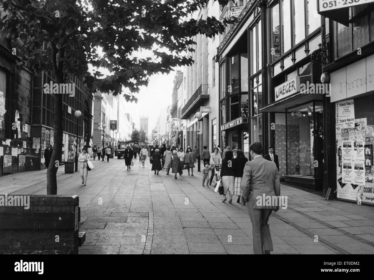 General scene of BoldStreet Liverpool 2nd October 1986 - Stock Image