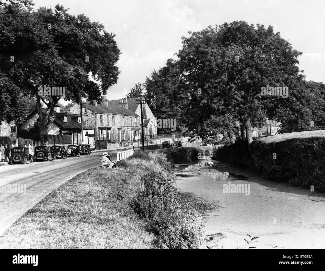 VIews of Great Ayton, North Yorkshire. September 1949. - Stock Image