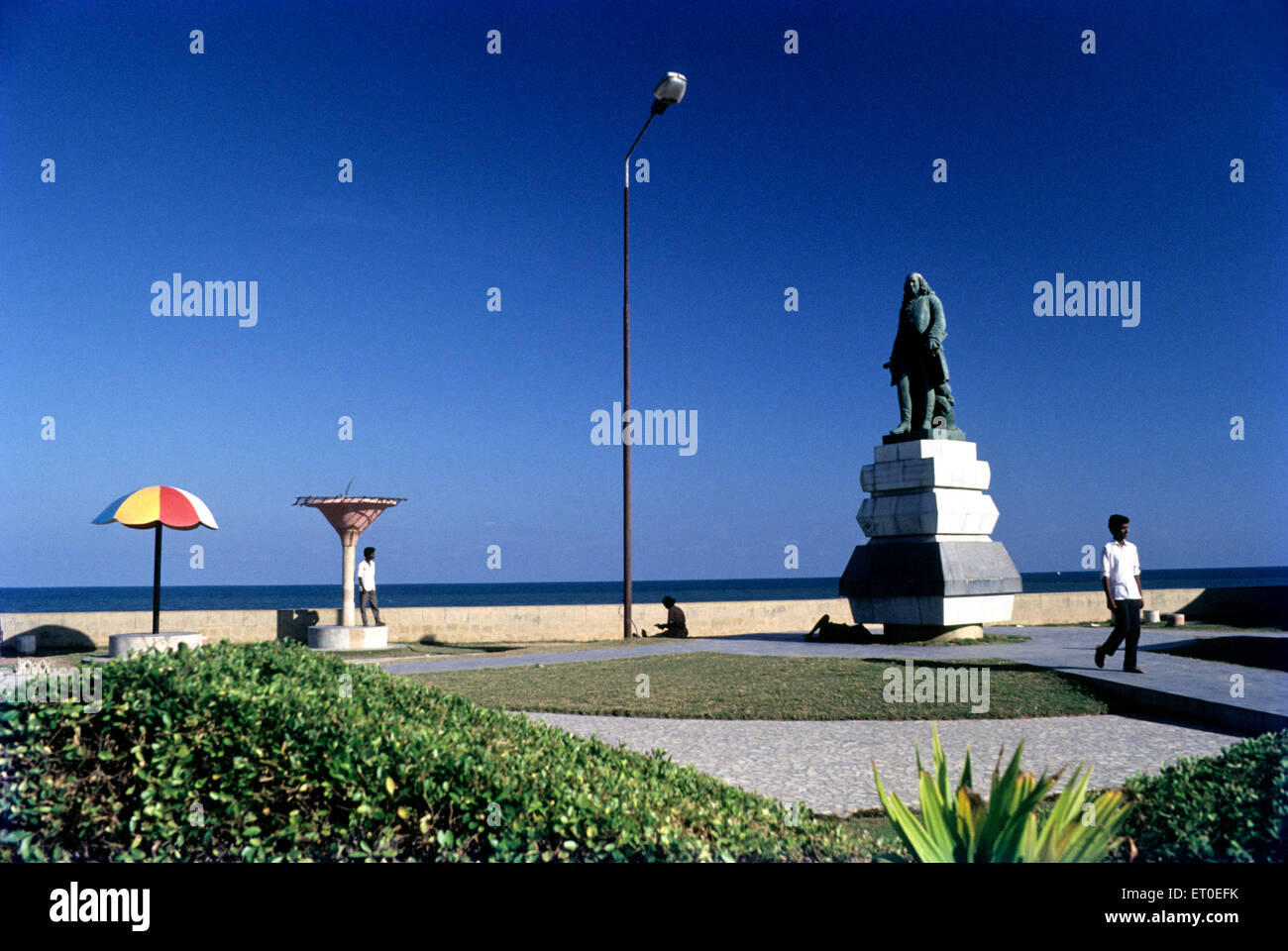 Joseph francois duplex statue ; Pondicherry ; Tamil Nadu ; India - Stock Image