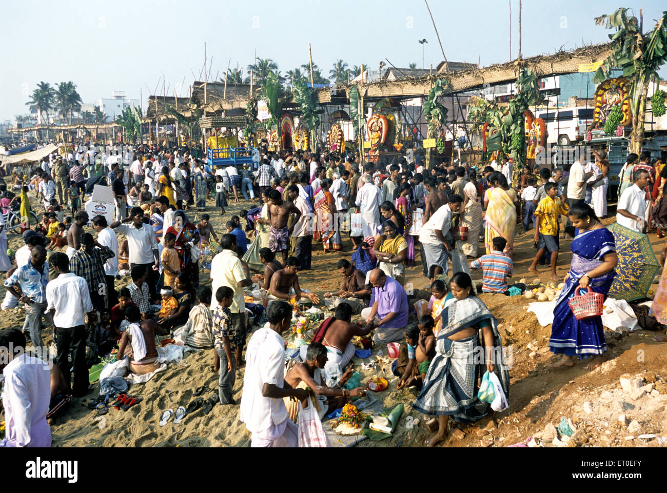 Masi magma festival at vaithi beach in Pondicherry ; Tamil Nadu ; India NOMR - Stock Image