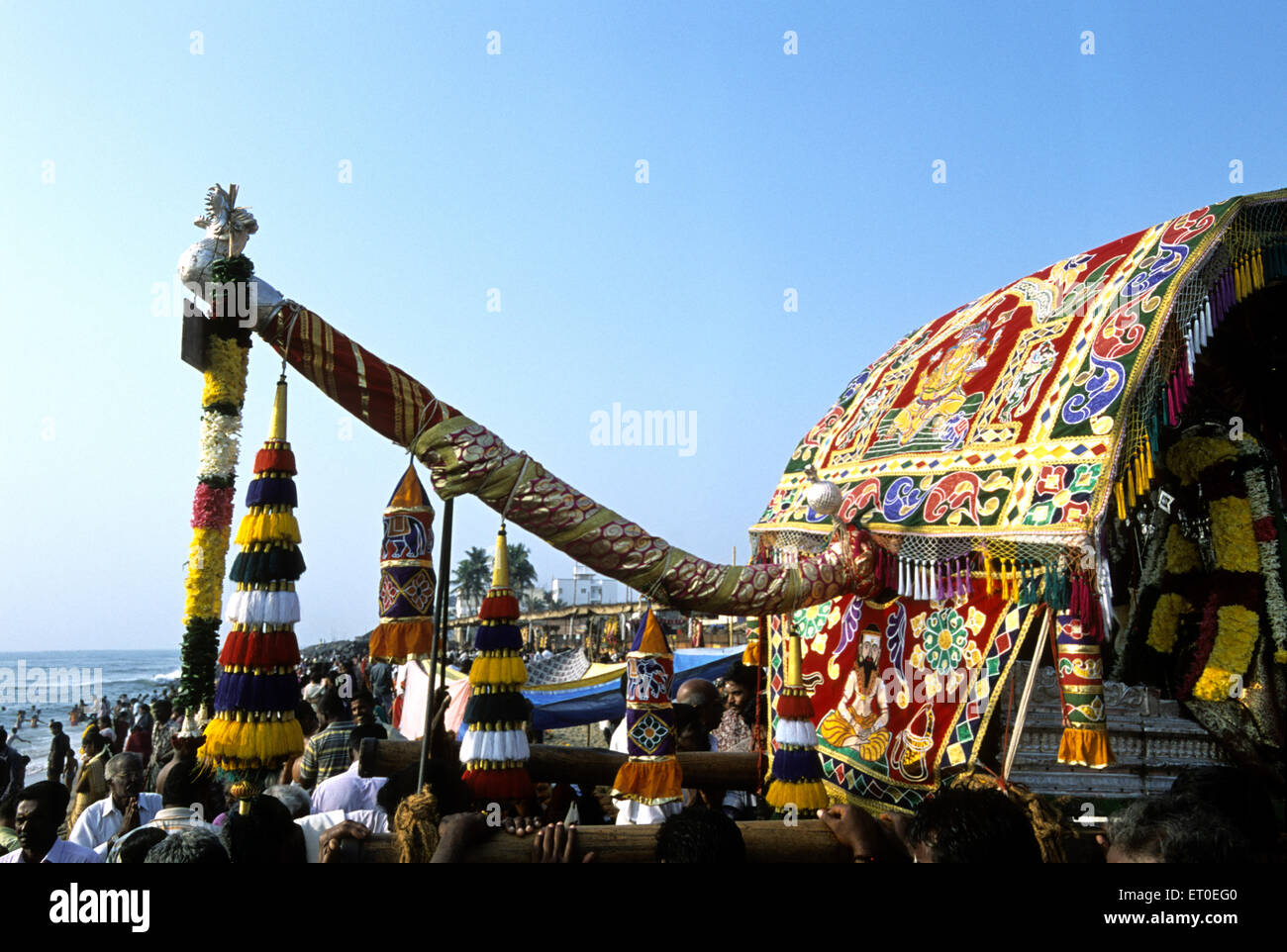 Masi magma festival at vaithi beach in Pondicherry ; Tamil Nadu ; India - Stock Image