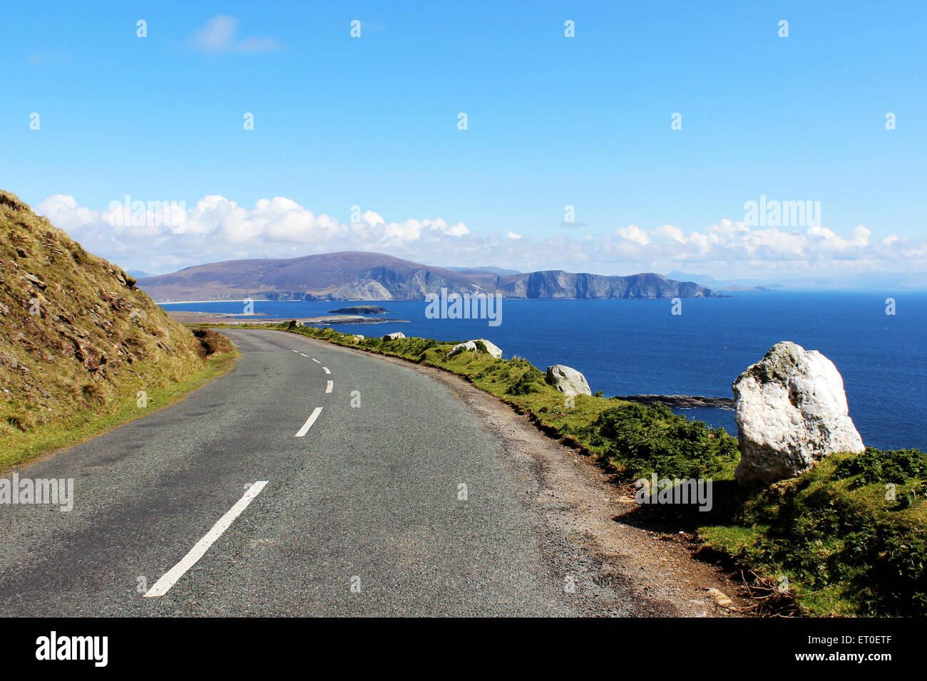 Irish road, Achill Island - Stock Image