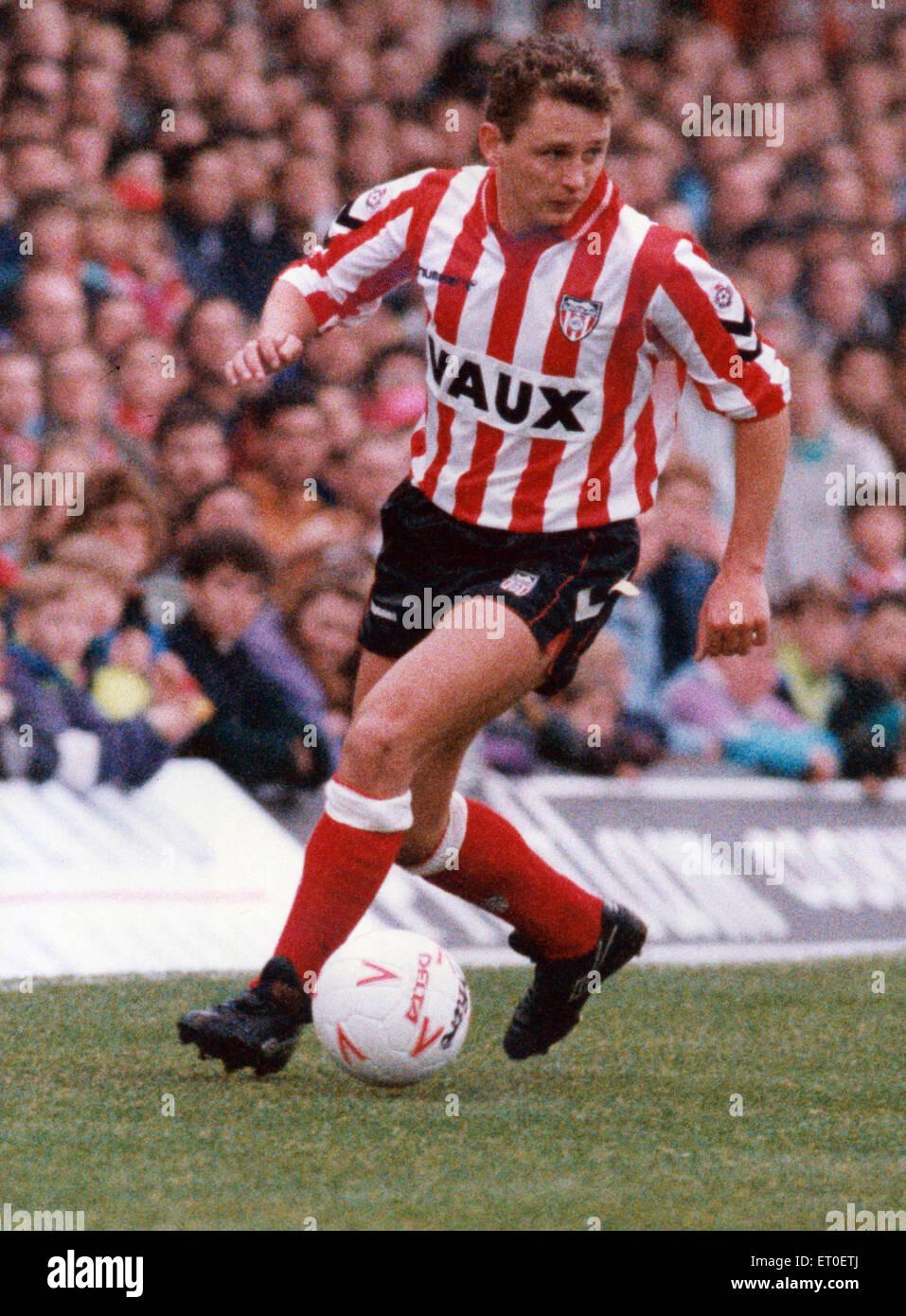 Brian Atkinson, Sunderland, Circa January 1992. - Stock Image
