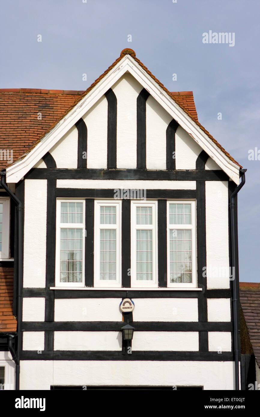Rooftop of Tudor house ; London ; UK United Kingdom England No MR - Stock Image
