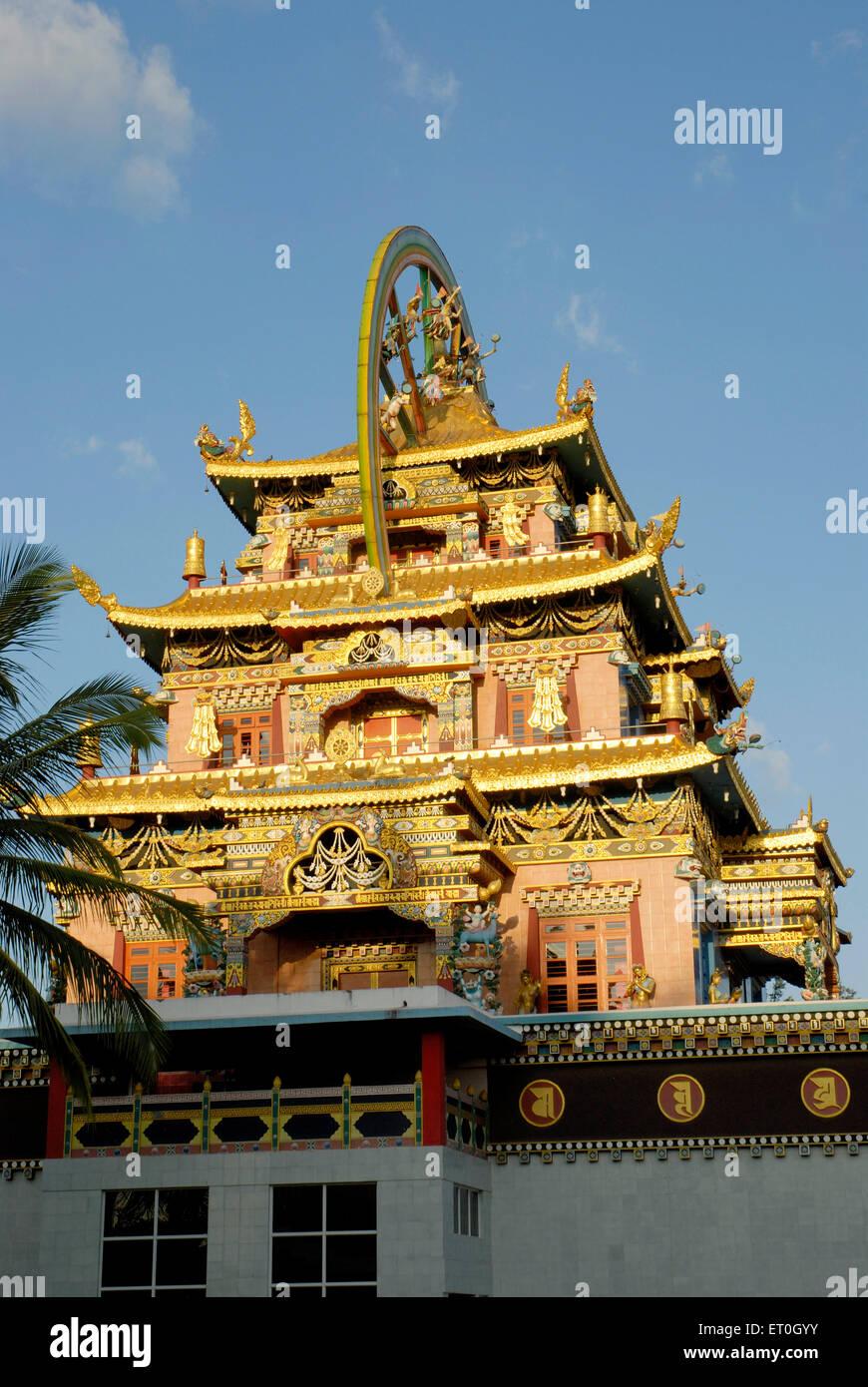 Biggest Namdroling monastery at Kushal nagar Coorg Karnataka India Stock Photo