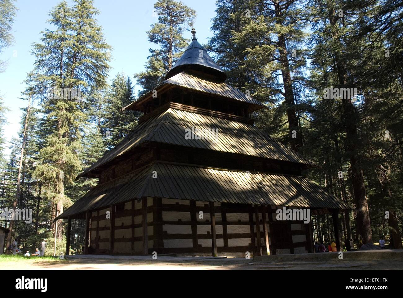 Hadimba temple at manali ; Himachal Pradesh ; India - Stock Image