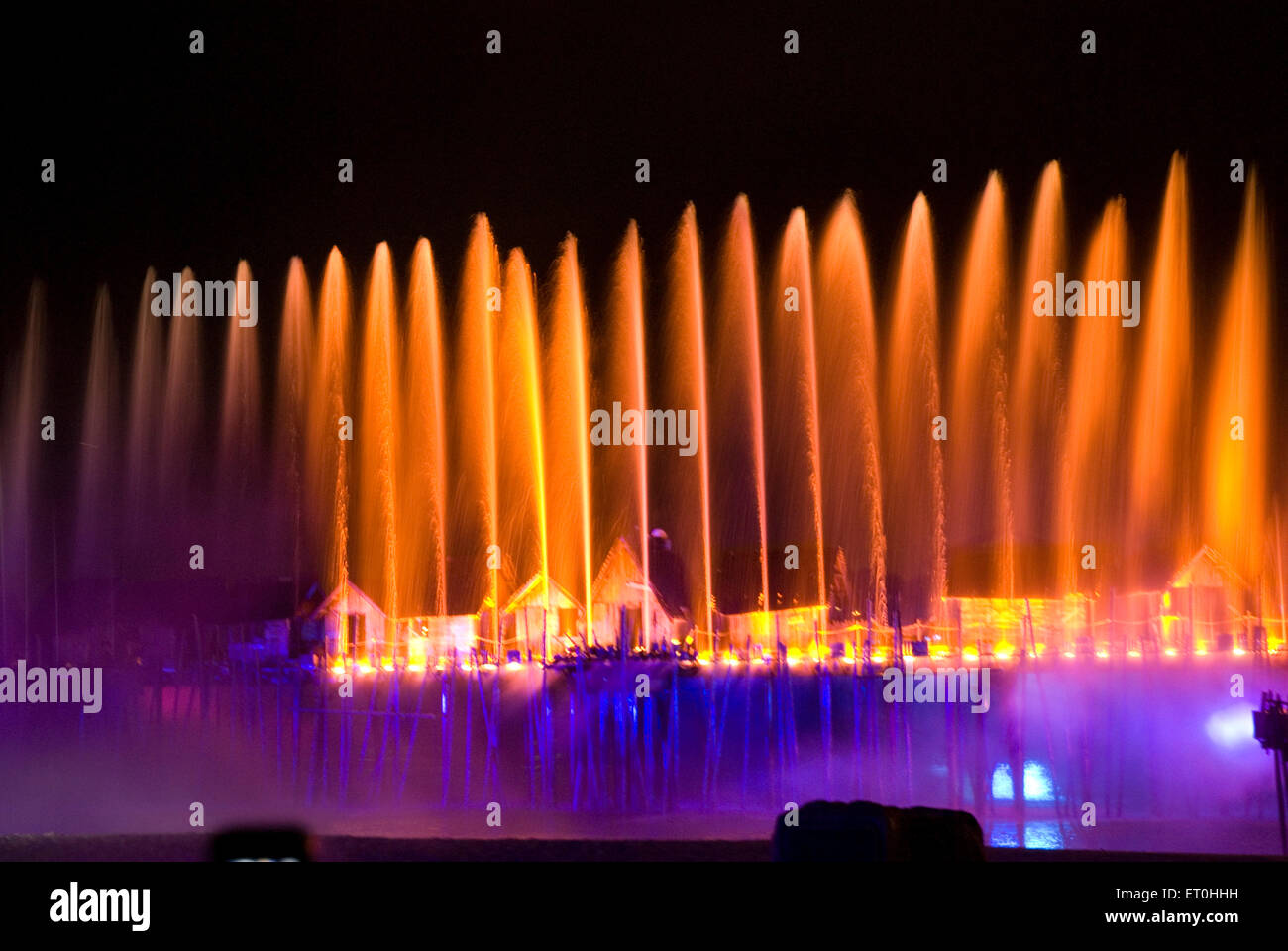 Song and Musical Colourful Laser at Sentosa Singapore Asia - Stock Image