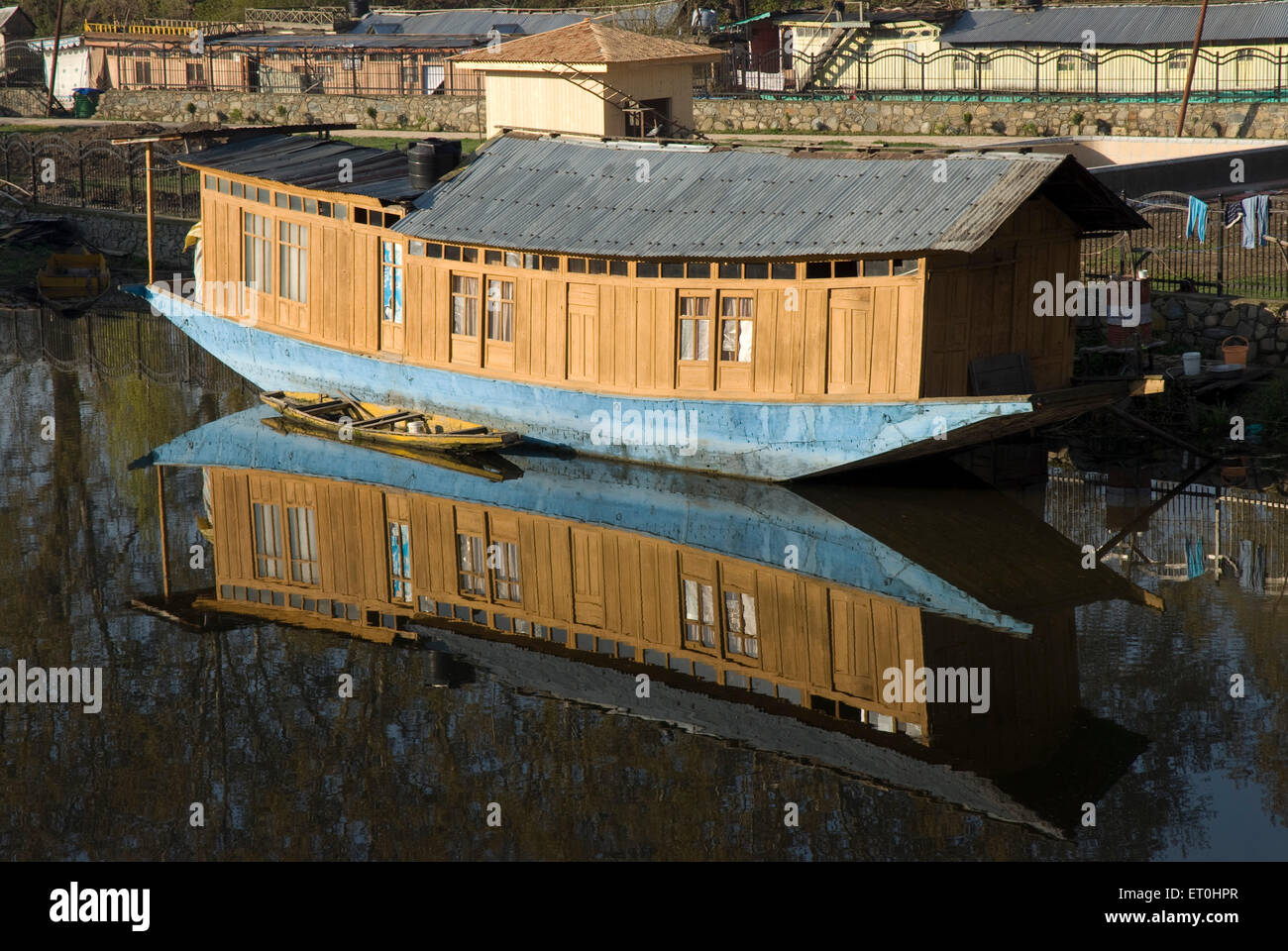 House Boat at Dal Lake Srinagar Jammu and Kashmir India Asia - Stock Image