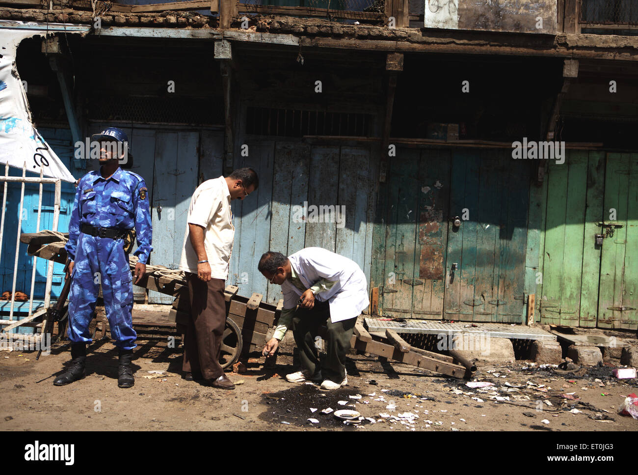 Commando Rapid Action Force keeping vigil experts Forensic Science department monitoring bomb blast 29th September - Stock Image