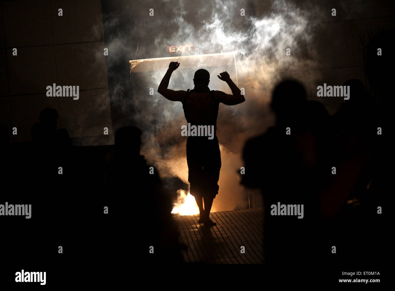 Artist of Nofit State Circus performing at Mood Indigo ; annual cultural festival of Indian Institute of Technology - Stock Image
