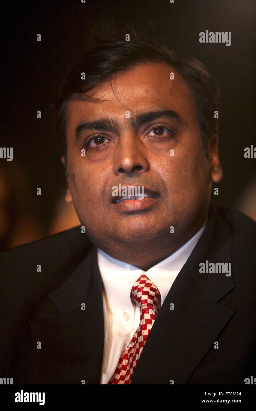 Mukesh Ambani ; Chairman and Managing Director of Reliance Industries Limited RIL at CNBC TV18 Indian Business Leader - Stock Image