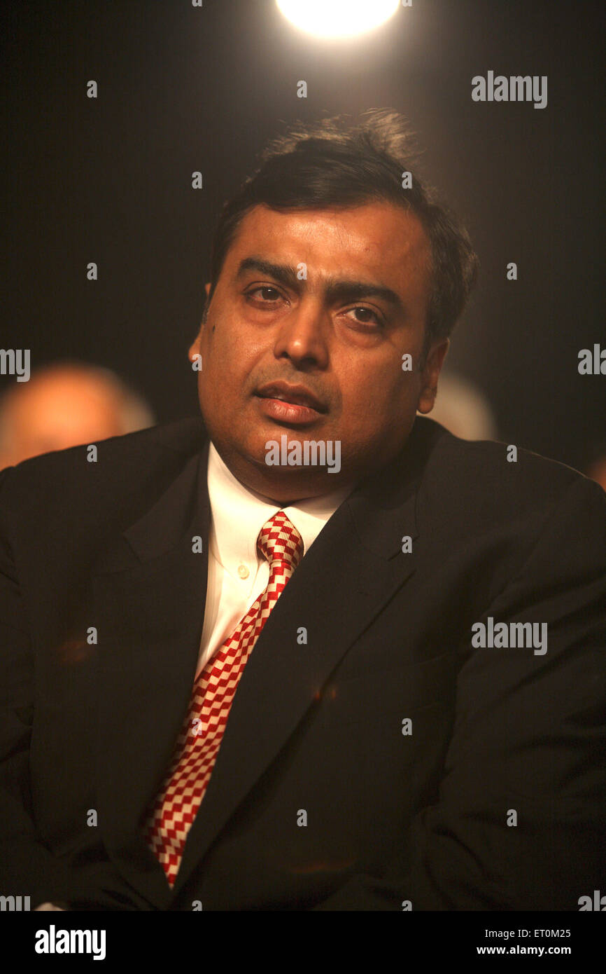 Mukesh Ambani ; Chairman and Managing Director of Reliance Industries Limited RIL Bombay - Stock Image