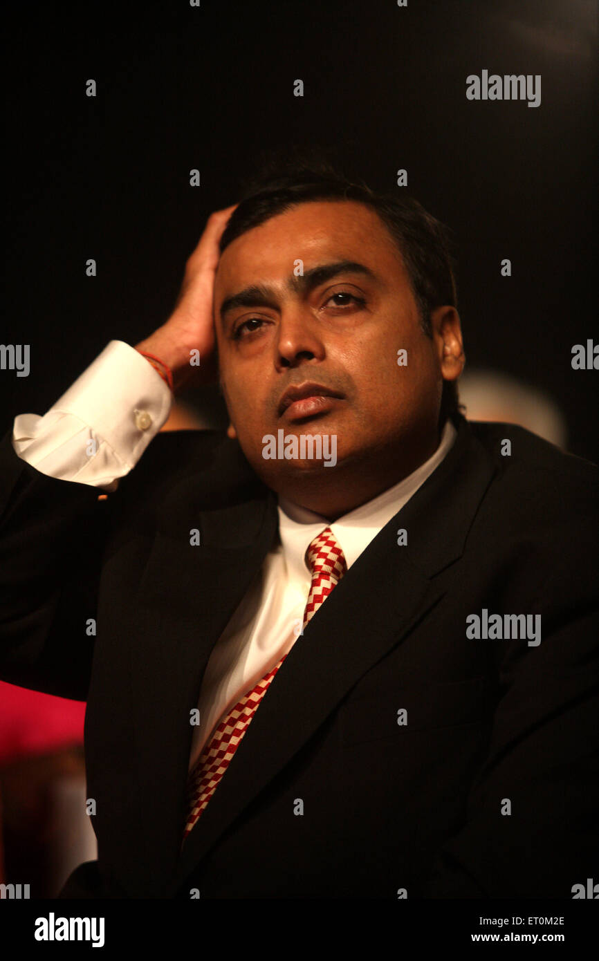 Mukesh Ambani ; Chairman and Managing Director of Reliance Industries Limited RIL Business Leader Award ; Bombay Stock Photo