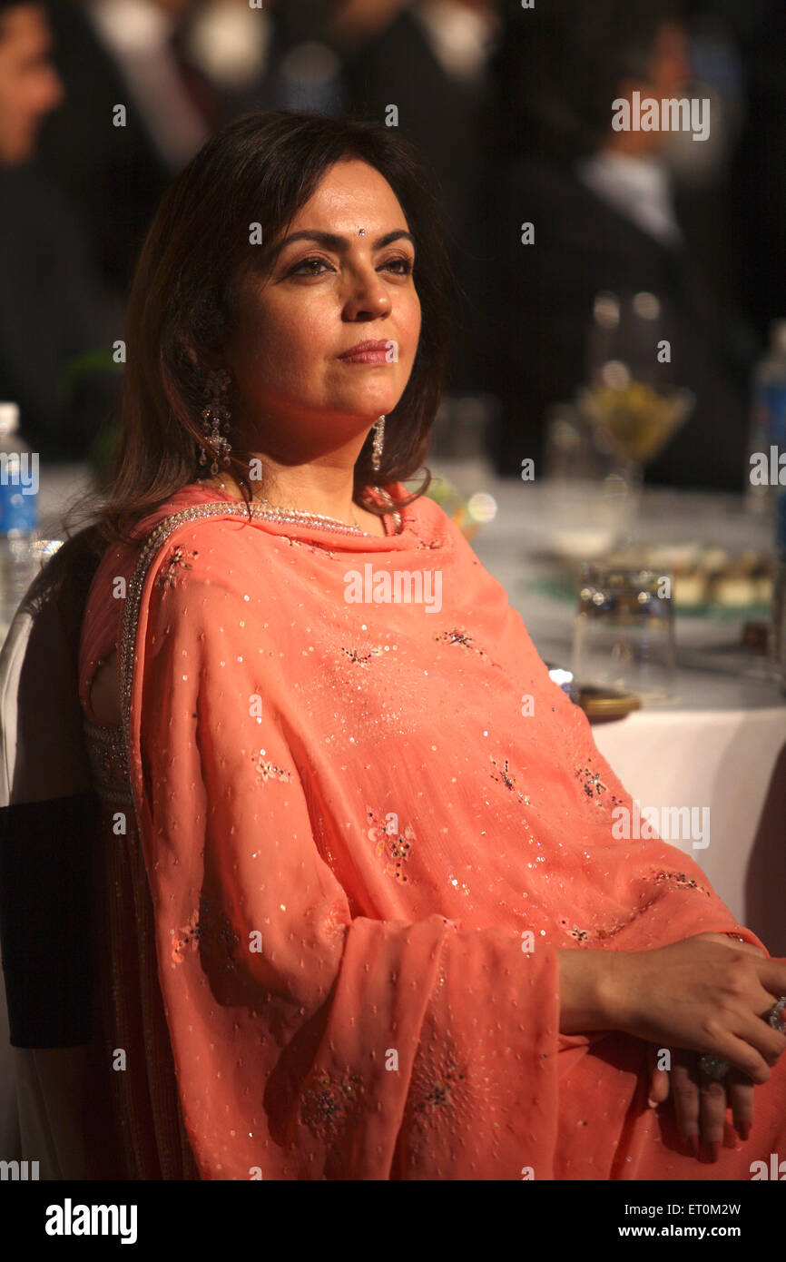 Neeta Ambani wife of Mukesh Ambani Chairman and Managing Director of Reliance Industries Limited RIL - Stock Image