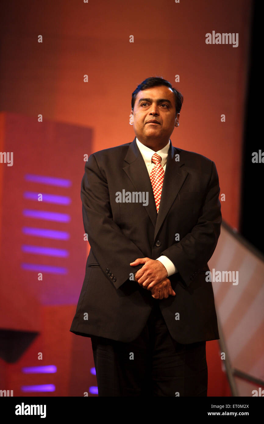 Mukesh Ambani ; Chairman and Managing Director of Reliance Industries Limited RIL Mumbai India - Stock Image