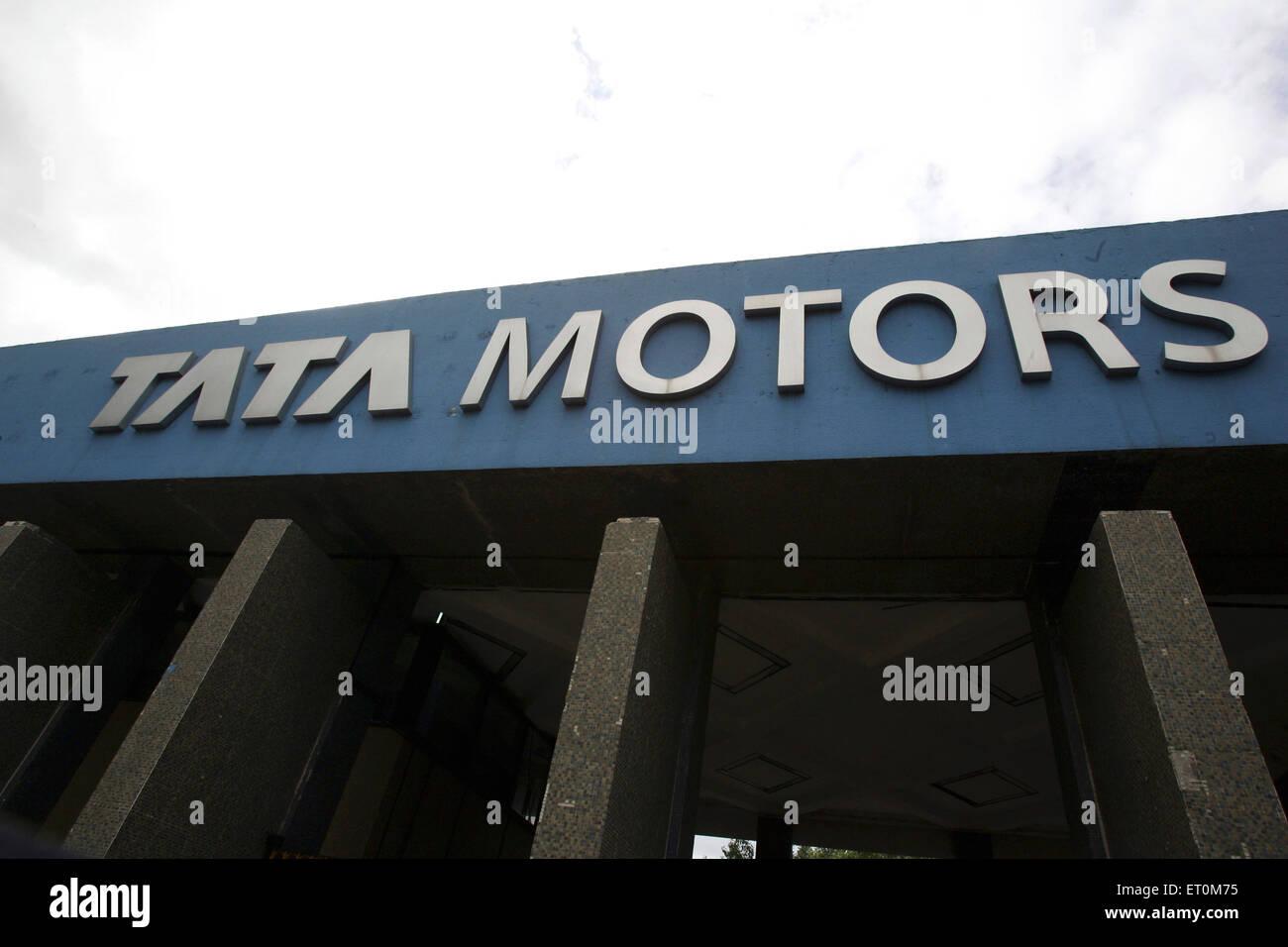 Board at Tata motors plant ; Pimpri near Pune ; Maharashtra ; India - Stock Image