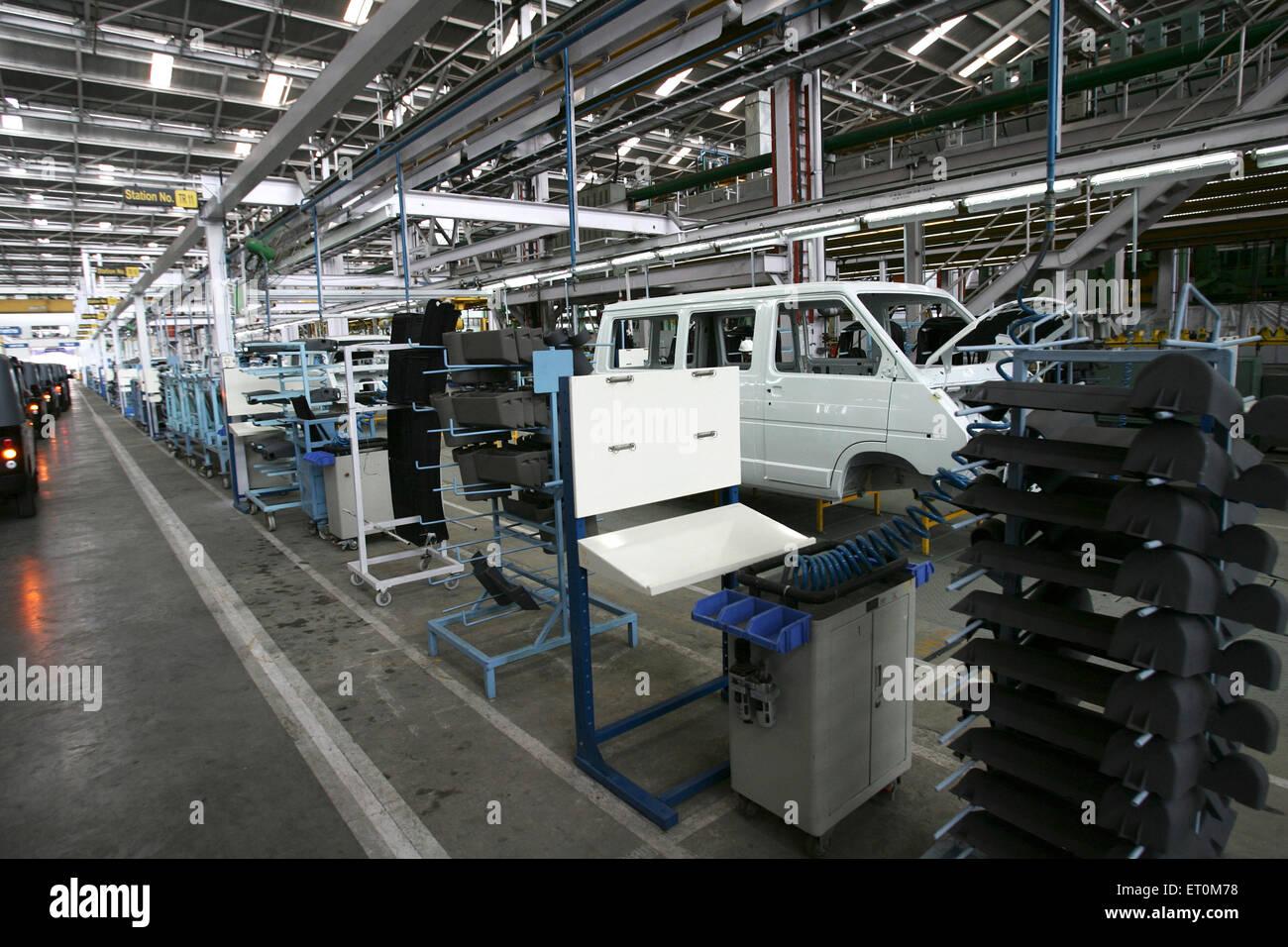 Body of new range of commercial vehicle introduced at Tata motors plant ; Pimpri near Pune ; Maharashtra ; India - Stock Image