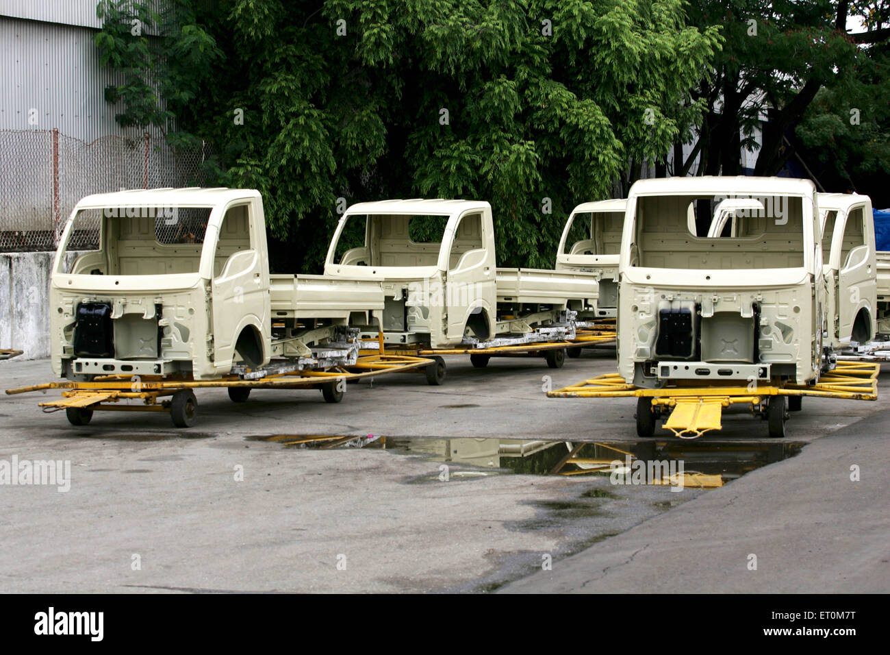 Bodies of Tata motors range mini matador Tata Ace commercial vehicle workshop Tata motors plant ; Pimpri Pune - Stock Image