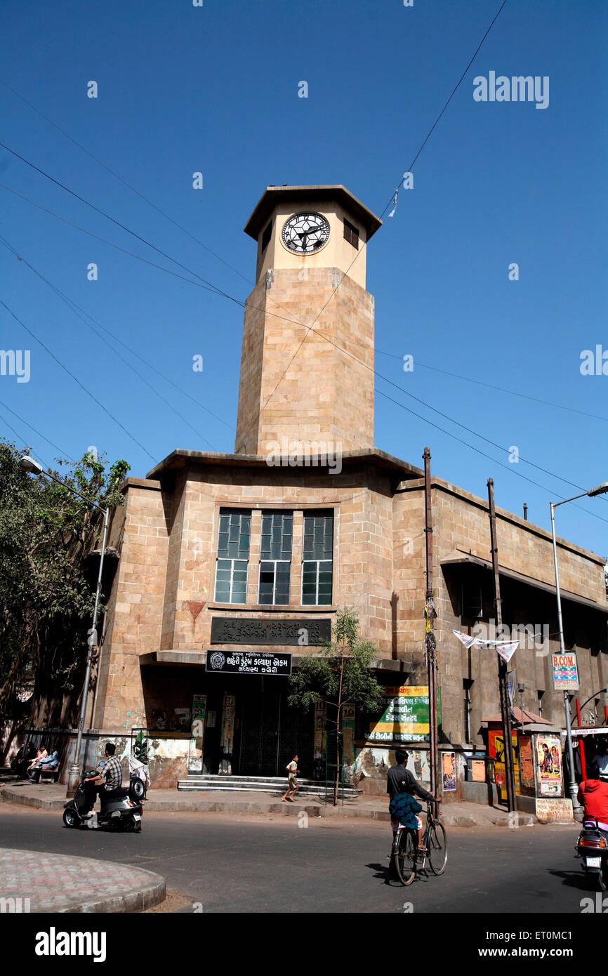 Heritage clock tower ; Ahmedabad ; Gujarat ; India - Stock Image