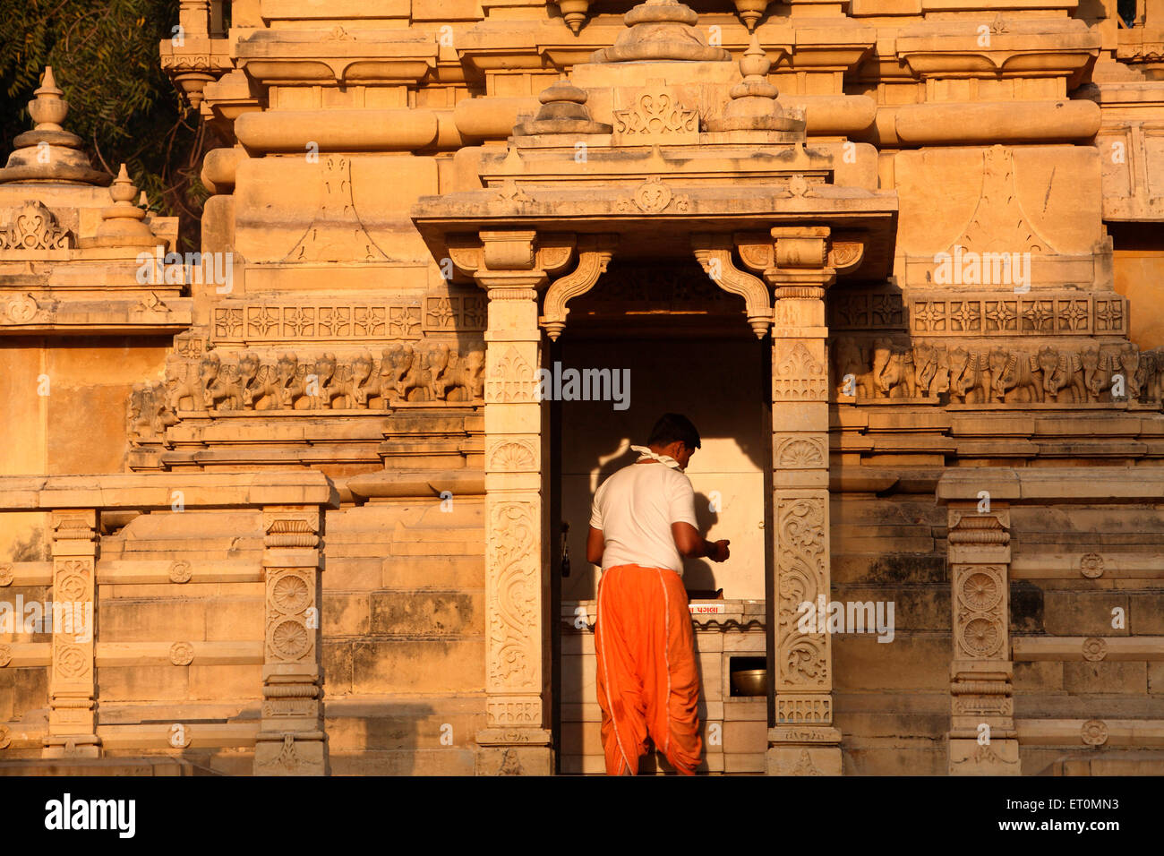 Hatheesingh temple built in 1850 situated outside Delhi Gate in Ahmedabad ; Gujarat ;  India - Stock Image