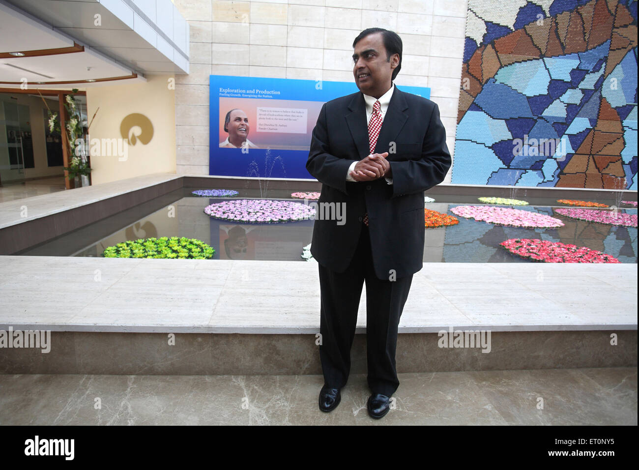 Mukesh Ambani Chairman and Managing Director of Reliance Industries NOMR - Stock Image