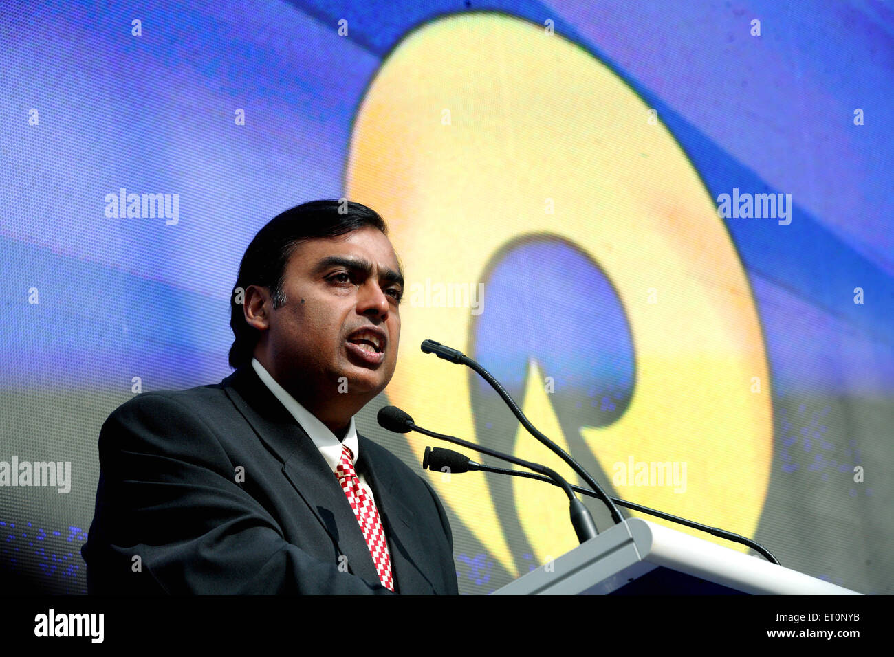 Mukesh Ambani Chairman and Managing Director of Reliance Industries Limited NOMR - Stock Image