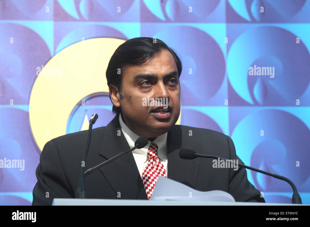 Mukesh Ambani Chairman and Managing Director of Reliance Industries Limited - mpd 172545 - Stock Image