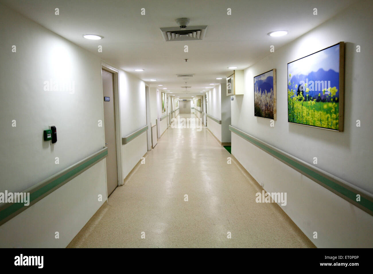 Interior of kokilaben dhirubhai ambani hospital ; Andheri ; Bombay Mumbai ; Maharashtra ; India - Stock Image