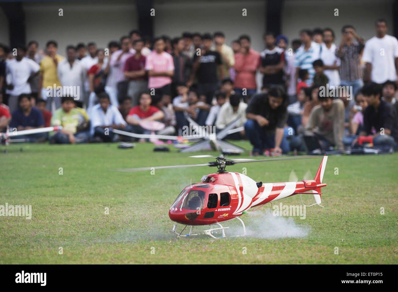 Helicopter model made by iit ; Powai ; Bombay Mumbai ; Maharashtra ; India - Stock Image