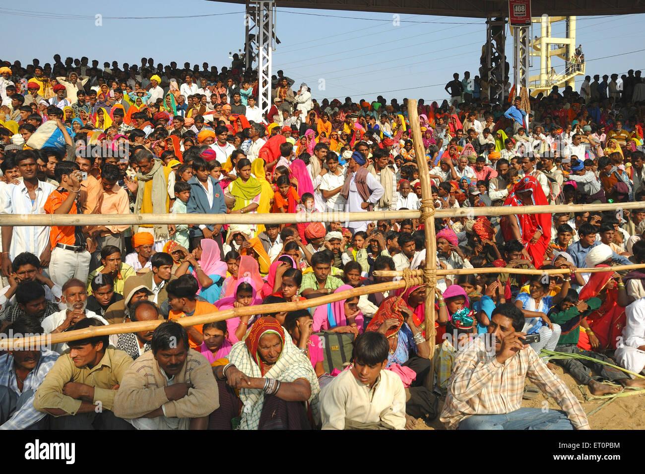 View of Pushkar fair ; Rajasthan ; India - Stock Image