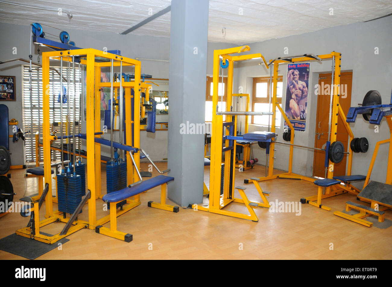 Equipment of gymnasium ; India - Stock Image