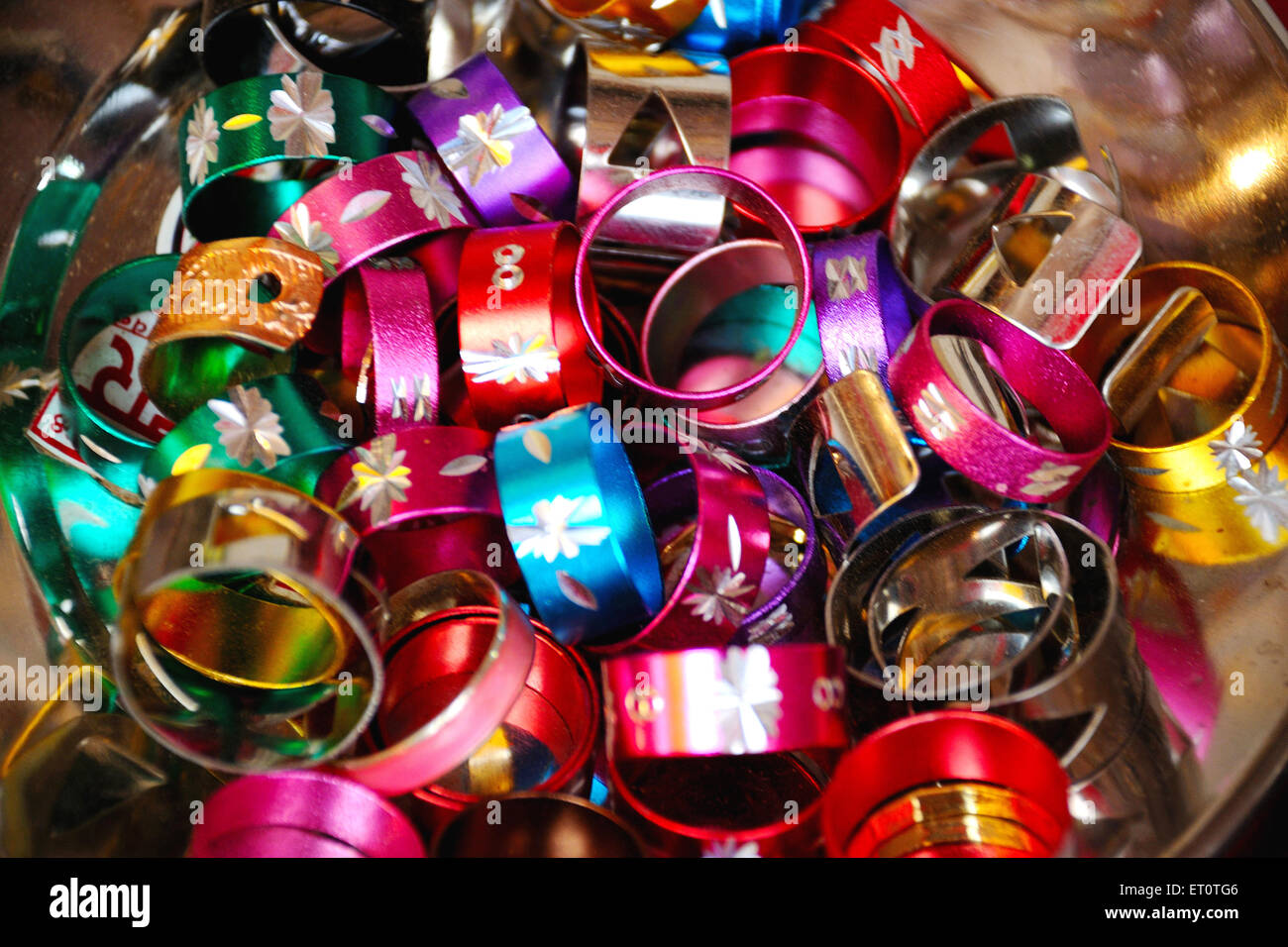 Colorful bangles - Stock Image