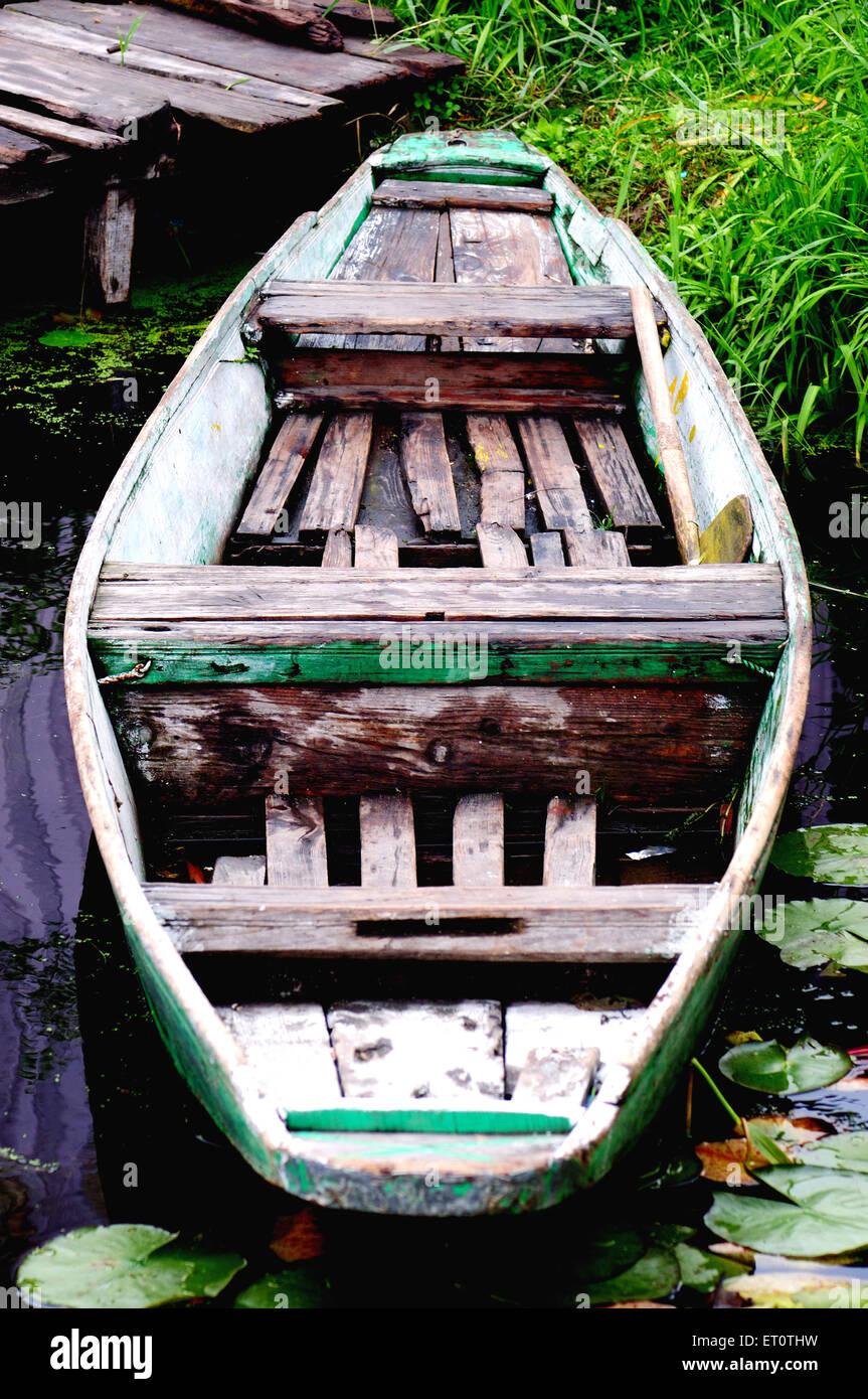 Canoe ; Srinagar ; Jammu and Kashmir ; India - Stock Image