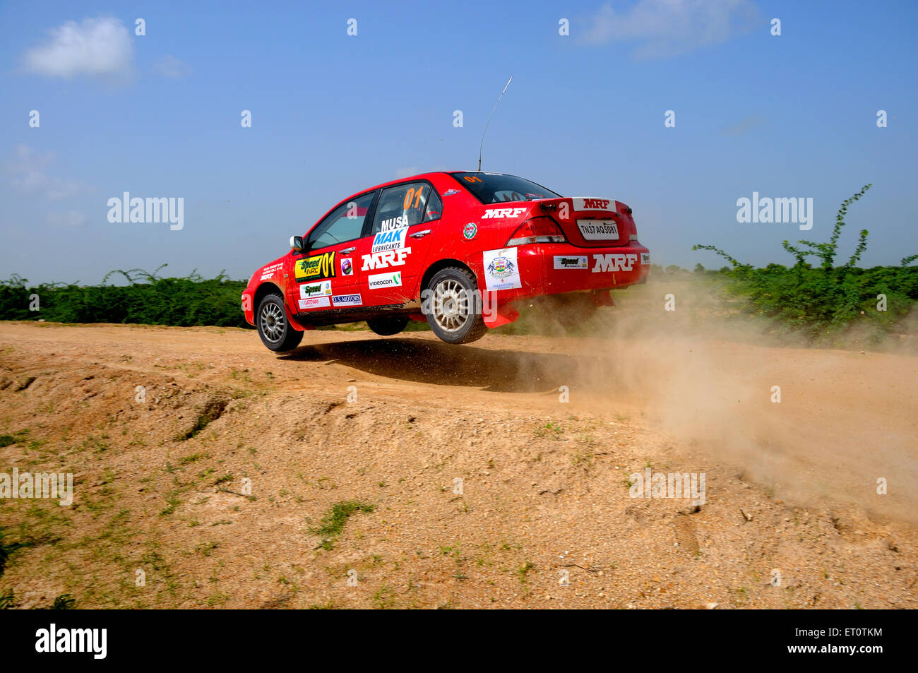 Car race contest in ; Jodhpur ; Rajasthan ; India - Stock Image