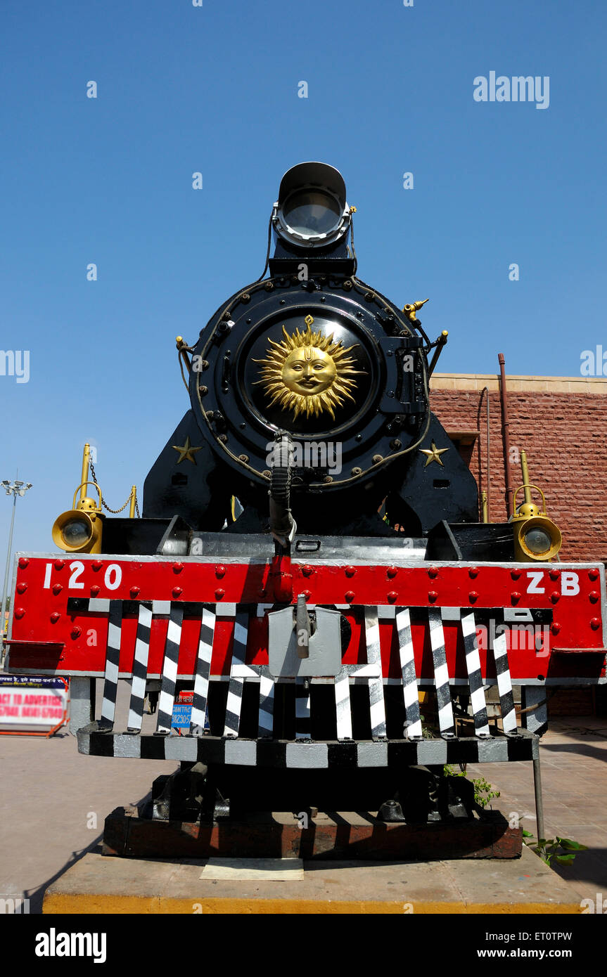 Locomotive engine at jodhpur railway station ; Rajasthan ; India - Stock Image