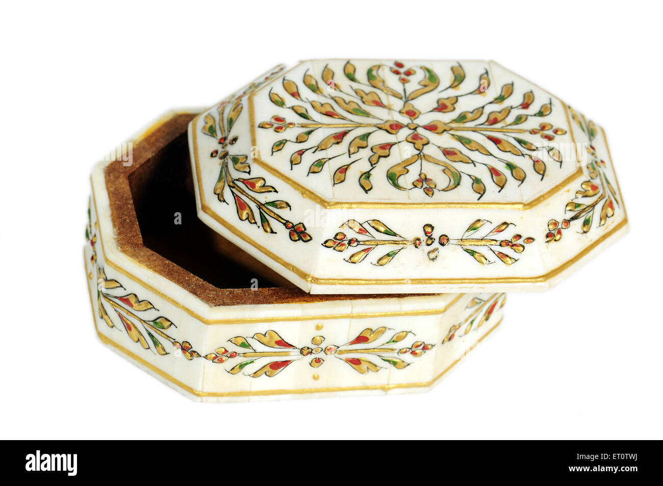 Handicraft ; design on box ; India - Stock Image